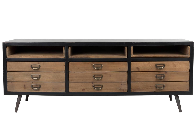 meuble tv sol dutchbone console tiroirs