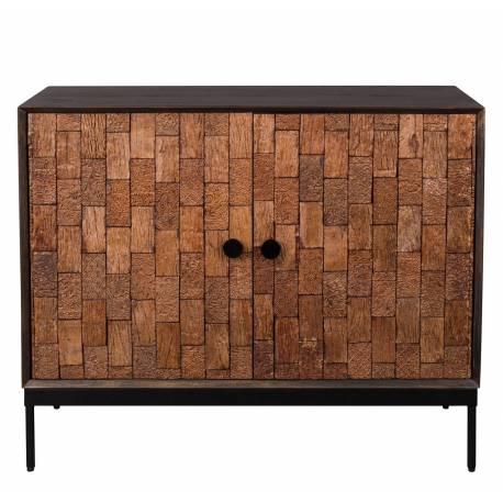 buffet chisel dutchbone meuble de cuisine ou salle a manger bahut de rangement en bois 40x80x100cm