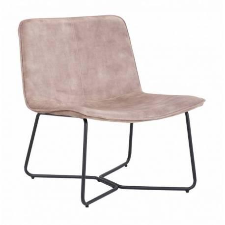 fauteuil rutano weimar signee hanjel siege de salon velours et metal 67x71x76cm