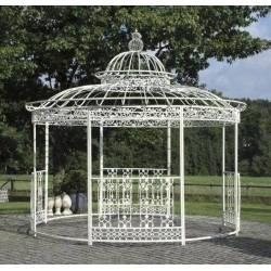 grande tonnelle kiosque de jardin pergola abris rond kiosque en fer forge et fonte blanc 340x370x370cm grande tonnelle kiosque de jardin pergola abris