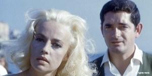 """Jeanne Moreau et Jacques Demy dans """"La-baie-des-anges"""""""