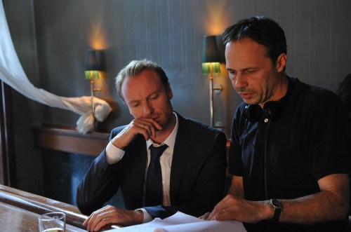 Mark Waschke et le réalisateur Denis Dercourt