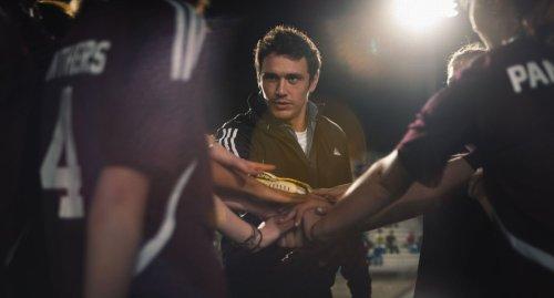 James Franco, l'auteur des nouvelles, et entraîneur de foot pour le film