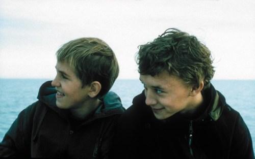 Ivan Dobronravov et Vladimir Garin ( ce dernier va se noyer peu de temps après la fin du tournage)