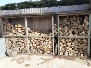 logs in rack