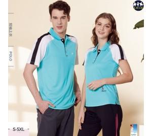 拼接polo衫男短袖 排汗polo衫有口袋 現貨 綠色 - LHLH休閒品牌