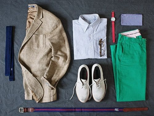 Outfitgrid tenue complète avec chino casual vert