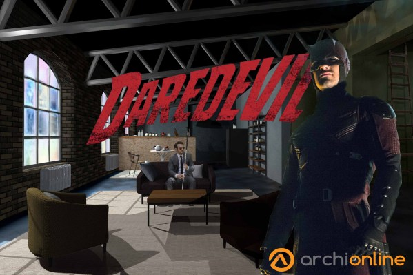Plan de l'appartement de Daredevil