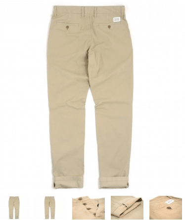 Norse Projects Aros Slim Light Twill Chino Khaki 115€