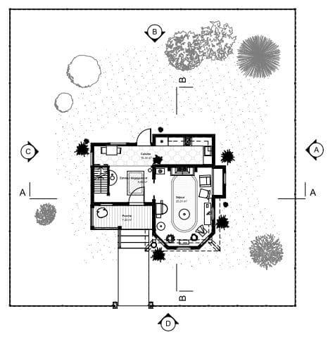 Plan maison La Haut / archionline