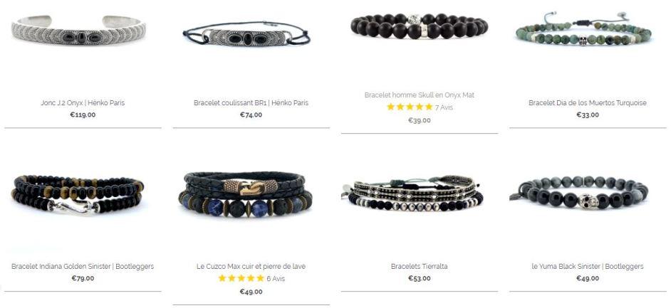 Une large sélection de bracelets pour homme à découvrir sur bijoux4men.com