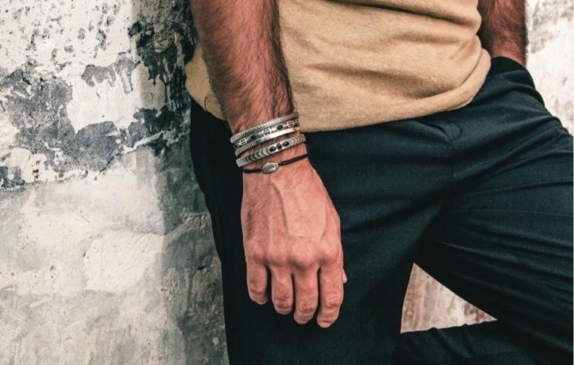 Bracelet en argent - jonc pour homme en vente sur bijoux4men.com
