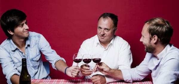 Jean-Michel Deluc et ses deux jeunes associés