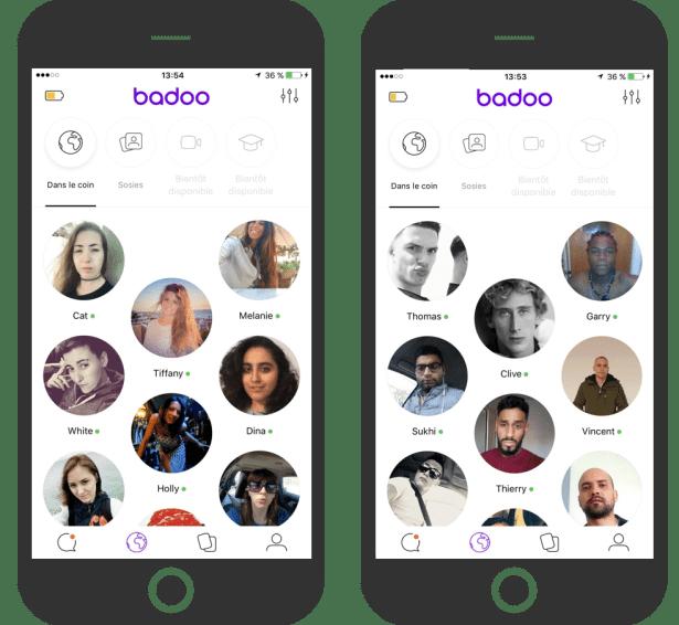 """""""Croisé en chemin"""" : Retrouve les personnes que tu as croisées en vrai pendant la journée sur l'App Badoo."""