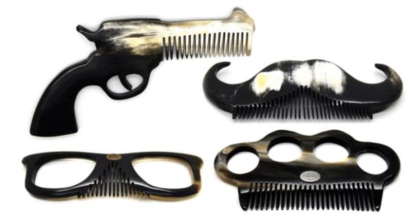 Peignes pour barbe & moustache sculptés à la main