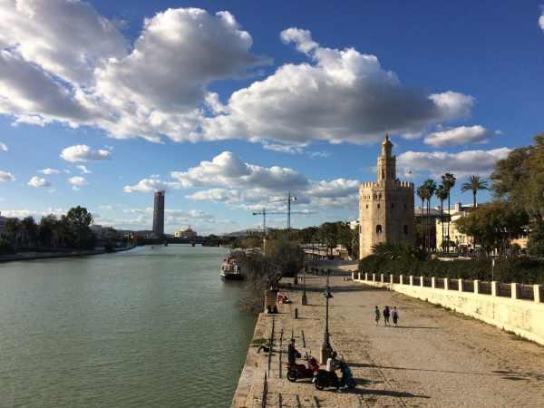 Séville sur les bords du Guadalquivir
