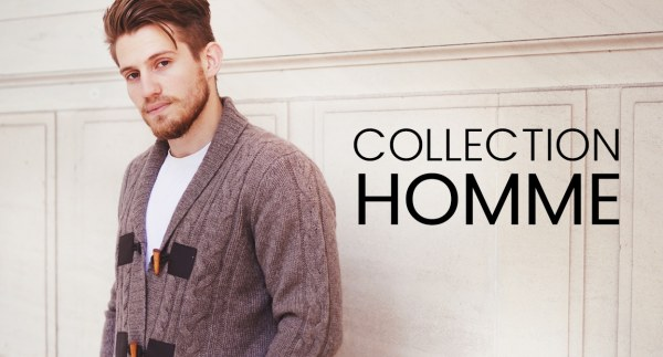 Collection de pull en laine de Yak pour homme