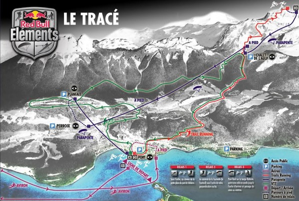 Parcours RedBull Elements Annecy