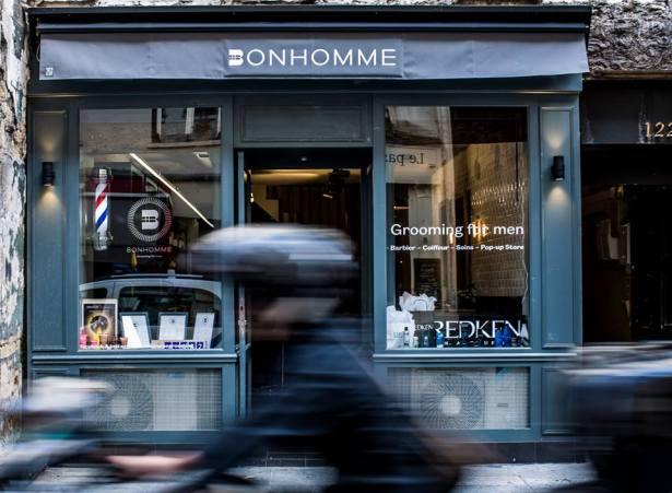 Salon de coiffure · Barbier Bonhomme