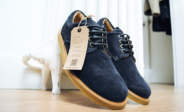 Derby Funny Game bleu/denim en suspension