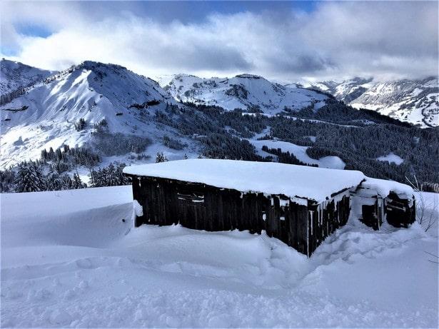 Superbe paysage sur le domaine skiable de Megèvre