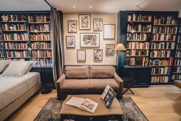 """Chambre d'hôtel Paris Marais Paris Boutik: """"La librairie du Marais"""""""
