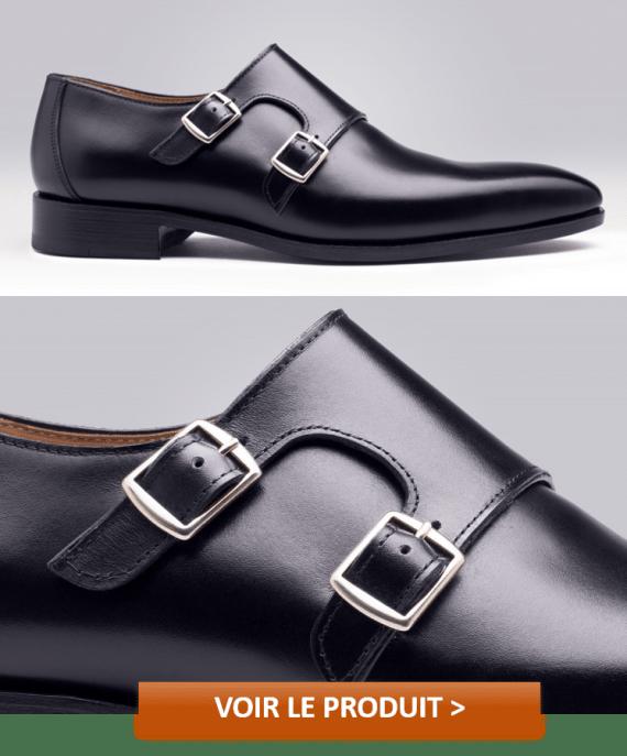 Chaussures à boucles pour hommes modèle AMELIA NOIR à 159€