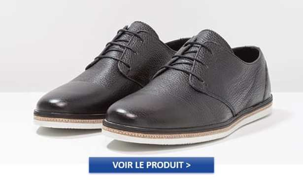 Derbies de la marque ZIGN en cuir noir