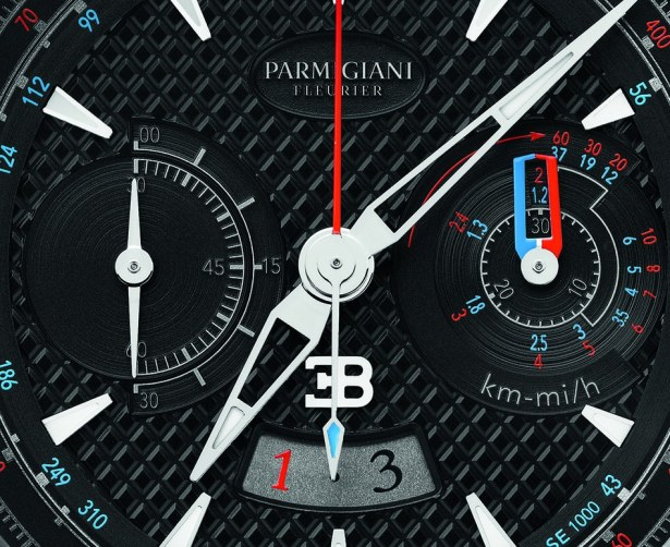 Montre Bugatti Aérolithe Performance / fonctions heures, minutes, seconde, date, chronographe, flyback