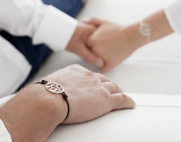 Bracelet en cuir Gemographic pour homme