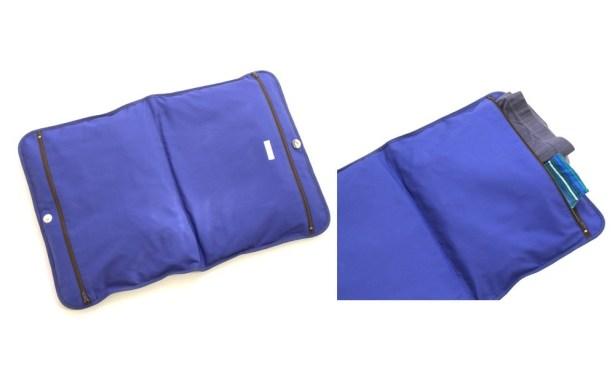 Intérieur d'une pochette à sous-vêtements