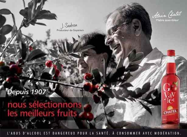Alain Chatel, fondateur de la marque, en pleine récolte.