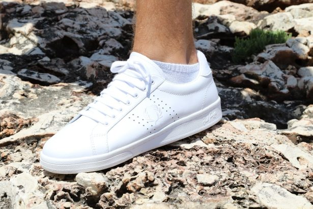 Basket Fred Perry blanches