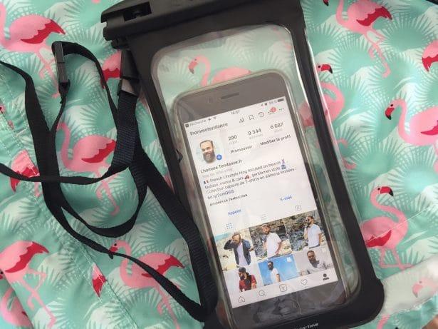Etui smartphone pour la plage