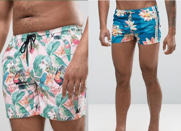 Shorts de bain homme imprimés fleurs