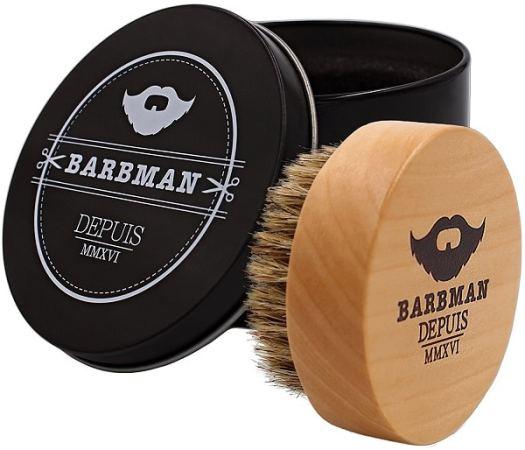Brosse à barbe en bois et poils de sangliers naturel