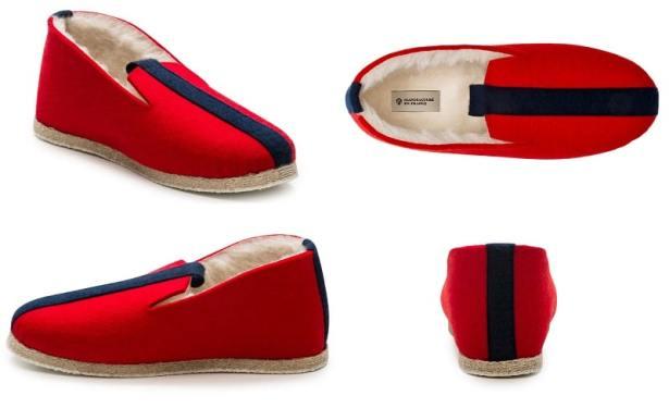 Chaussons NEO rouge de la Manufacture de Gorce