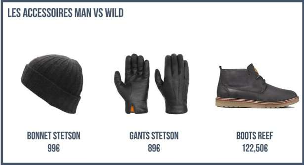Mes accessoires Man vs Wild