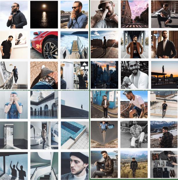Exemples de photos Instagram