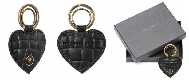 Porte-clés forme coeur by Maxwell Scott Bags