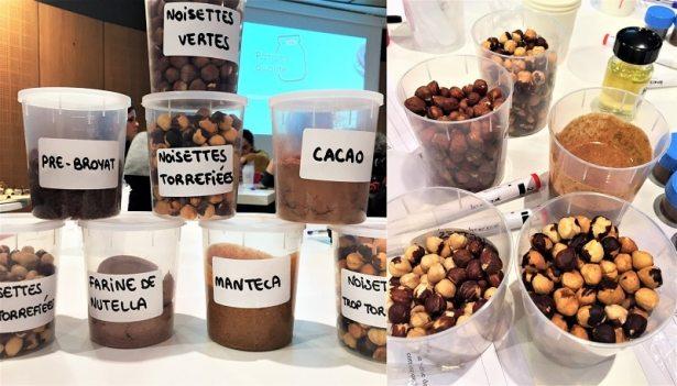 En plein test des différents ingrédients du Nutella