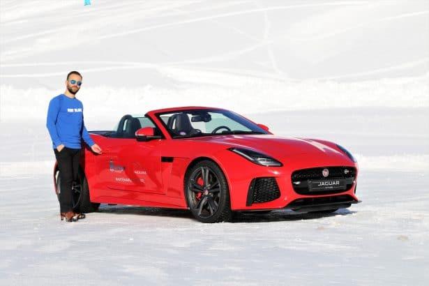 En route pour la glisse sur glace avec Jaguar - La Plagne