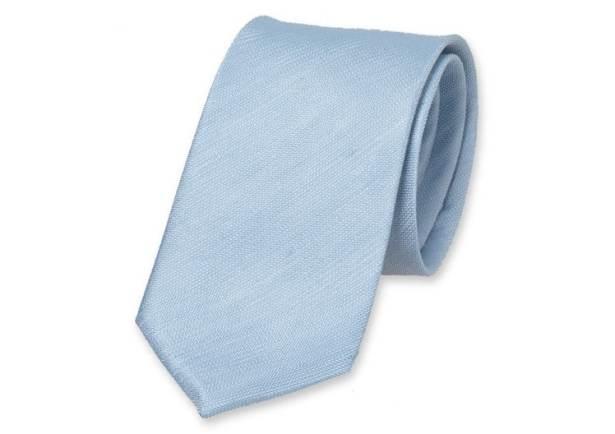 Cravate en lin chinée casual chic.