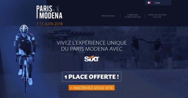 Tentez votre chance avec Sixt pour le Paris Modena