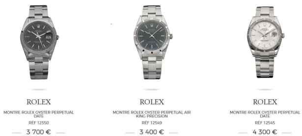 Rolex OYSTER à partir de 3400€