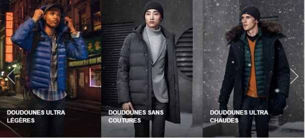 doudounes hommes ultra légères, sans coutures et ultra chaudes