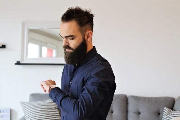 FYU, Chemise Montmartre Bleu Marine pour homme