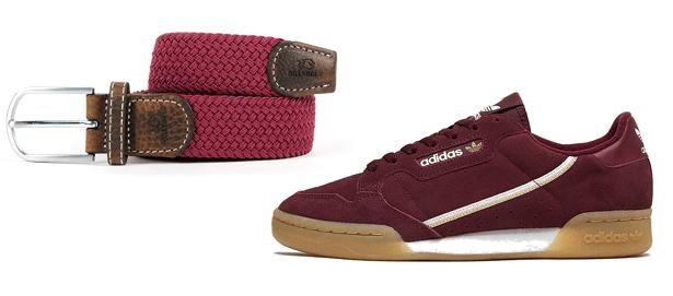 Ceinture et sneakers