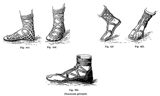 Voici quelques modèles de chaussures antiques. Crédit photo : méditerranée-antique.fr