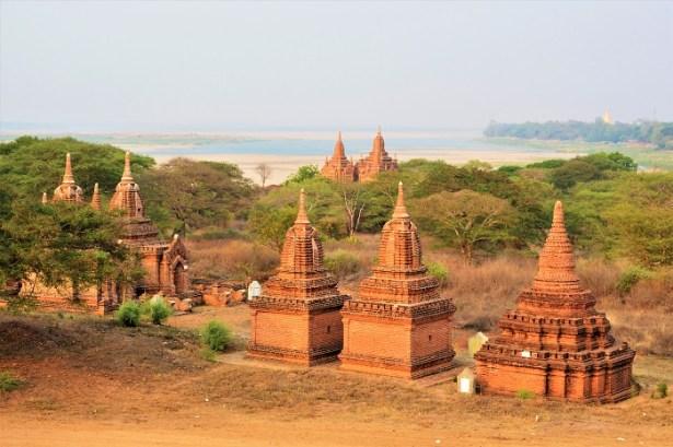 Temples en briques rouges de Bagan, Birmanie
